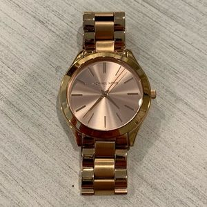 Michael Kora 42mm Rose Gold Stainless Steel Watch